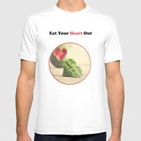 Eat Your Heart Out Mens Fitted Tee White SMALL