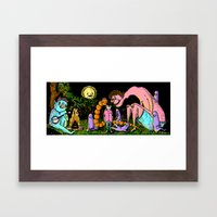 Camp out Framed Art Print