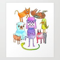 Animal Pyramid Art Print