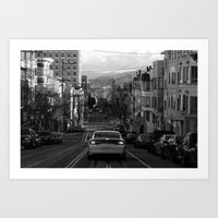 Black And White San Fran… Art Print