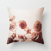Falling Flower Variation II Throw Pillow