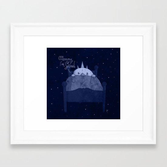 Baby Monster is Afraid of the Dark II Framed Art Print