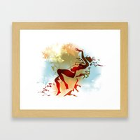 Leda Framed Art Print