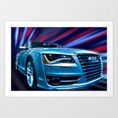 Audi R8 Blur Art Print