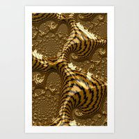 Electric Gold Art Print