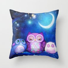 Night Owls & Fairy Lanterns Throw Pillow