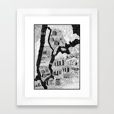Hip-Hop Map of New York Framed Art Print
