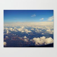Canvas Print featuring Above the clouds by SmallIslandInTheSun