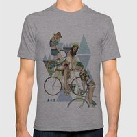 Bike Girls Mens Fitted Tee Athletic Grey SMALL