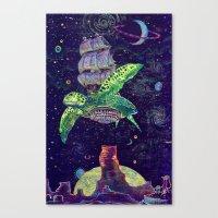 Sobaloopsian Turtleship Canvas Print