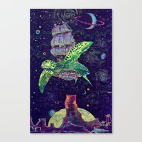 Sobaloopsian Turtleship Canvas Print