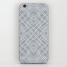 Map Outline 45 Grey Repeat iPhone & iPod Skin