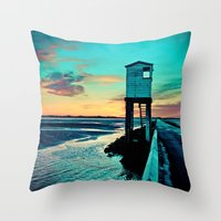 Betsy Blue Throw Pillow