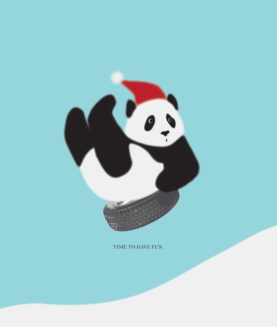TIME TO HAVE FUN WITH PANDA Art Print