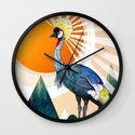 Crowned Crane Wall Clock