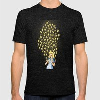 Golden Butterflies Mens Fitted Tee Tri-Black SMALL