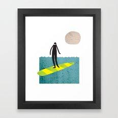 Dude Boarder Framed Art Print