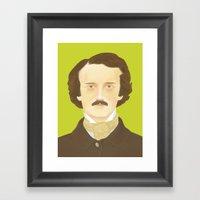 Poe-faced Framed Art Print