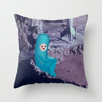waiting for a bigger one Throw Pillow