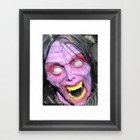 Scary Lady Framed Art Print