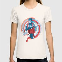 The Winter Soldier Womens Fitted Tee Natural SMALL