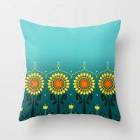 Sunflower Fever Throw Pillow