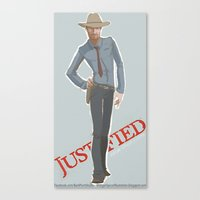 Justified Canvas Print