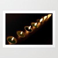 heart candles Art Print
