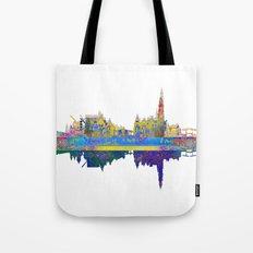 Amsterdam Skyline In Silhouette Tote Bag