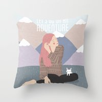 Let's go on an adventure Throw Pillow