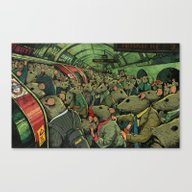 Canvas Print featuring Tube Rats by Steve Cutts