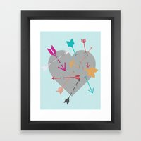 Arrow Heart Framed Art Print