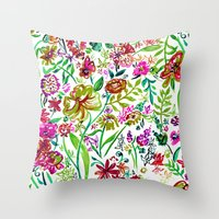 Gypsy Blooms - Day Throw Pillow