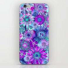 Rivalry of Flowers - blue & pink iPhone & iPod Skin