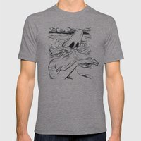 Breathe Mens Fitted Tee Tri-Grey SMALL