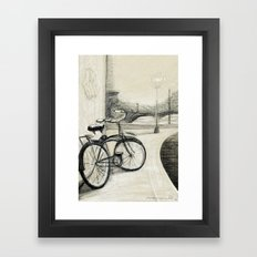 My Bike in New Brunswick Framed Art Print