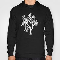 Solo Tree White On Black Hoody