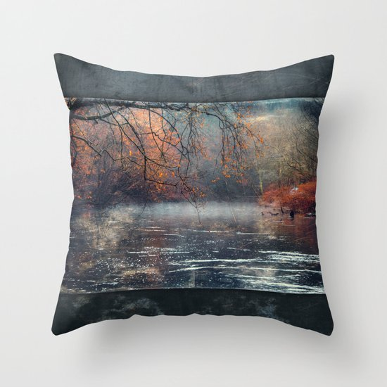between fall & winter Throw Pillow