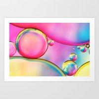 Rainbow and Oil Art Print