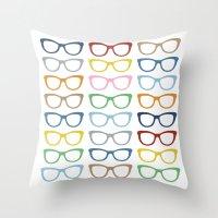 Glasses #3 Throw Pillow