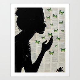 Art Print - SIMPLICITY (Green) - LouiJoverArt