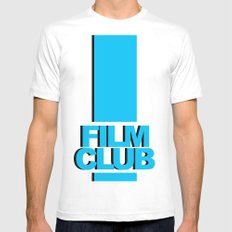 Film Club Mens Fitted Tee SMALL White