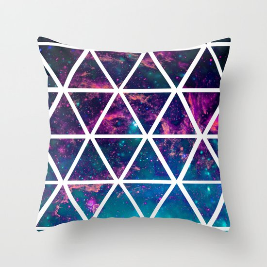 GALAXY TRIANGLES Throw Pillow