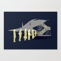 Final flight Canvas Print