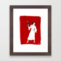 Rebel Girl Framed Art Print