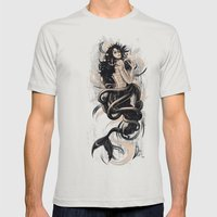 Sirena Drk Mens Fitted Tee Silver SMALL