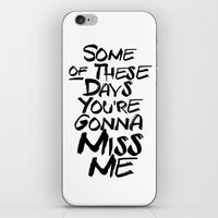 Miss me iPhone & iPod Skin