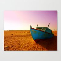 Sailing The Sand Canvas Print
