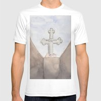 Checkpoint Mens Fitted Tee White SMALL