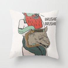 brushie brushie Throw Pillow